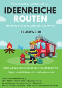 Plakat Feuerwehr Route